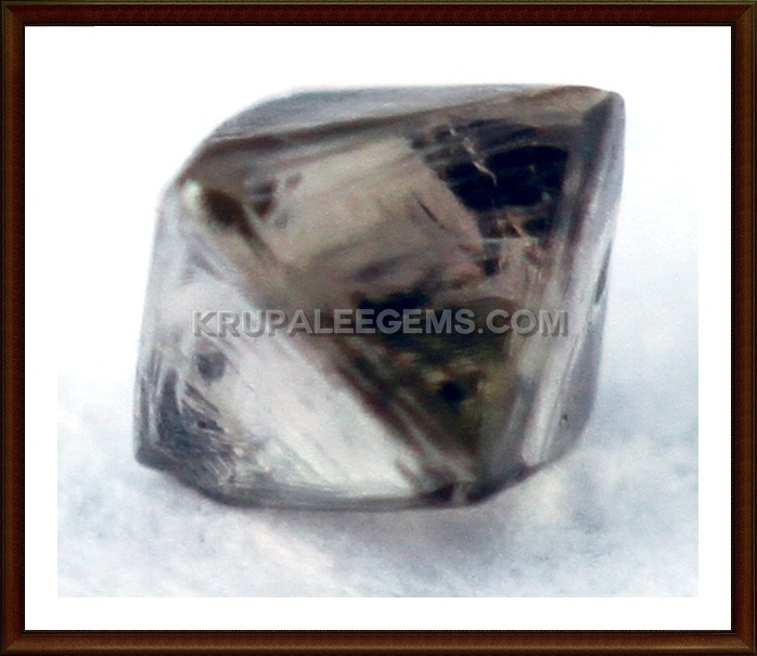 octahedron brown diamond-krupaleegems